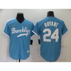 LA Dodgers 24  Kobe Bryant Blue Jersey